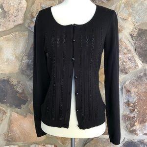 LOFT EUC black cardigan